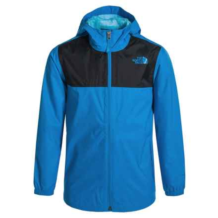 The North Face Zipline Jacket - Waterproof (For Little and Big Boys) in Clear Lake Blue - Closeouts