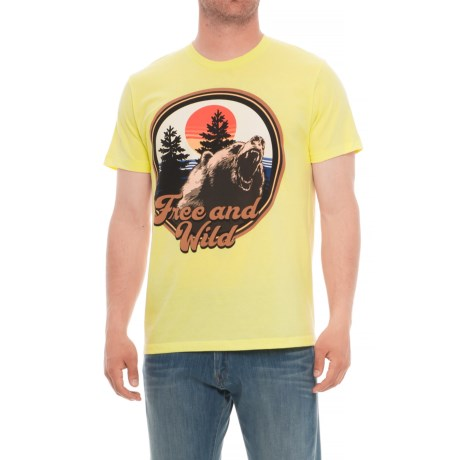 The Outsiders Free and Wild Graphic T-Shirt - Short Sleeve (For Men) in Free And Wild