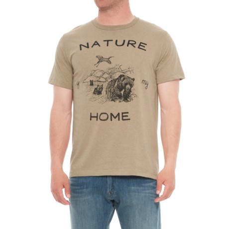 The Outsiders Nature Home Graphic T-Shirt - Short Sleeve (For Men) in Nature Home