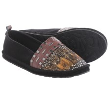 The Sak Echo Feather Espidrilles  (For Women) in Black Feather - Closeouts