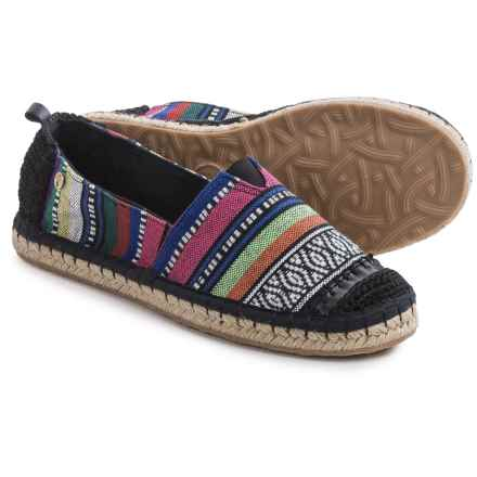 The Sak Ella Flat Espadrille Shoes (For Women) in Black Stripe - Closeouts