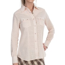 The Sherry Cervi Collection Dixi Eyelet Shirt - Long Sleeve (For Women) in Blush - Closeouts