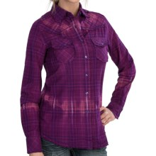 The Sherry Cervi Collection Lion Plaid Shirt - Long Sleeve (For Women) in Wine Rose - Closeouts
