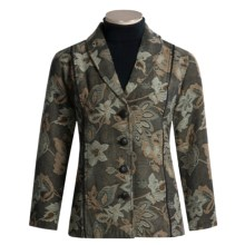 The Territory Ahead Garden Jacquard Jacket - Cotton Rich (For Women) in Walnut Multi - Closeouts