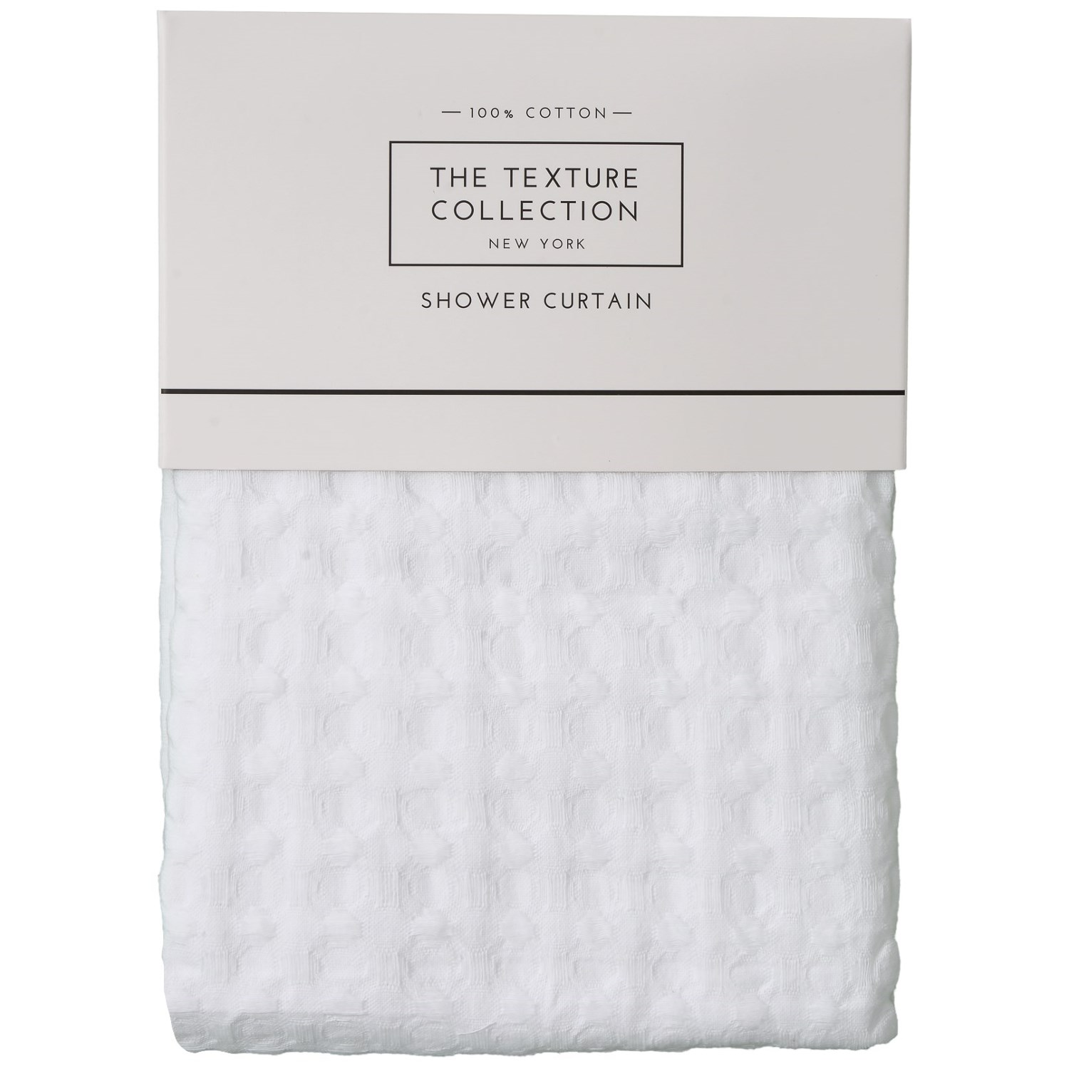 The Texture Collection Honeycomb Shower Curtain