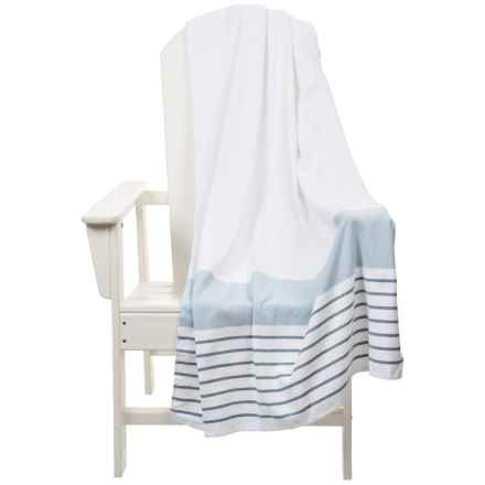 """The Turkish Towel Company Beach Towel and Tote Bag - 35x68"""" in Denim - 2nds"""