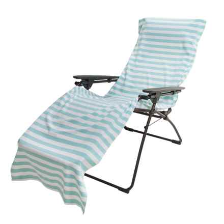 """The Turkish Towel Company Chaise Lounge Cover and Beach Towel - 28x91"""" in Turquoise - 2nds"""