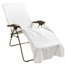 The Turkish Towel Company Chaise Lounge Cover - Turkish Cotton in White - Closeouts