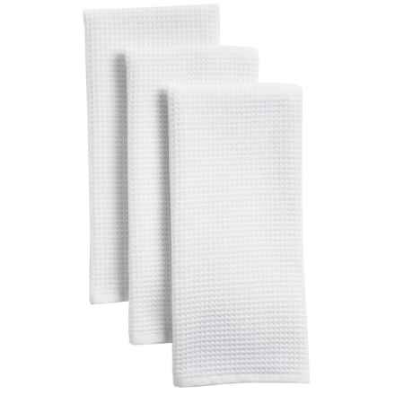 The Turkish Towel Company Cotton Kitchen Towels - 3-Pack in White - Closeouts