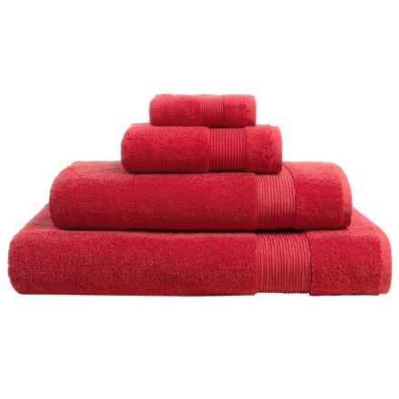 The Turkish Towel Company Essence Collection Bath Sheet - Turkish Cotton in Scarlet - Overstock