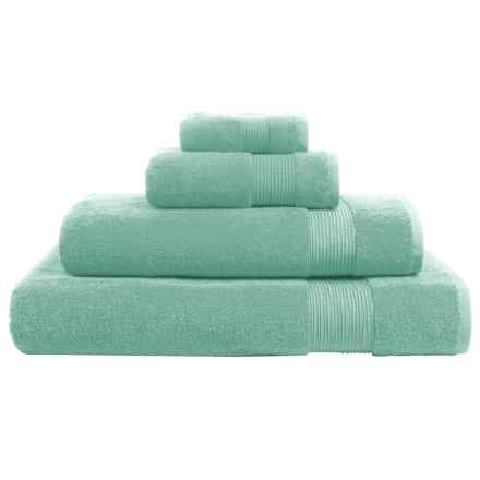 The Turkish Towel Company Essence Collection Hand Towel - Turkish Cotton in Aqua - Overstock