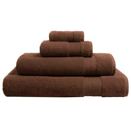 The Turkish Towel Company Essence Collection Hand Towel - Turkish Cotton in Chocolate - Overstock