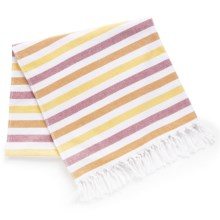 "The Turkish Towel Company Peshterry® Beach Towel - 35x68"" in Orange/Yellow - 2nds"