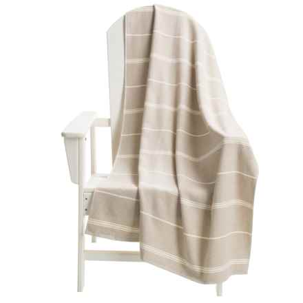 The Turkish Towel Company Peshterry® Striped Beach Towel in Linen - Closeouts