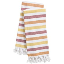 The Turkish Towel Company Peshterry® Striped Kitchen Towels - Set of 2 in Orange/Yellow - 2nds