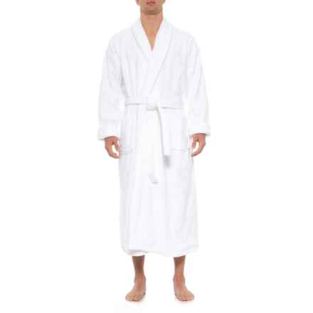 The Turkish Towel Company Shawl Collar Terry Robe in White - Closeouts