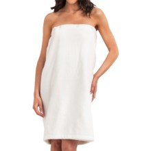 The Turkish Towel Company Shower/Spa Wrap - Cotton Velour in White - Overstock