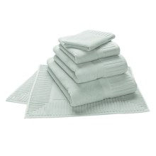 The Turkish Towel Company Sultan Hand Towel - Turkish Cotton in Blue Ice - Overstock
