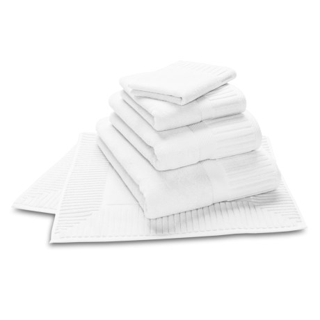 The Turkish Towel Company Sultan Washcloth - Turkish Cotton in White