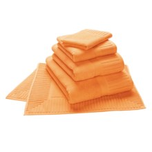 The Turkish Towel Company Zenith Hand Towel - Turkish Cotton in Tangerine - Closeouts