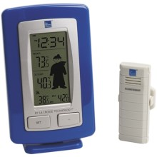 The Weather Channel Wireless Weather Station - Weather Boy/Girl Icons, Detachable Stand in Silver/Blue - Closeouts