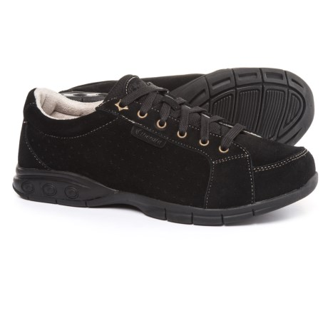 Therafit Gina Oxford Walking Shoes - Suede (For Women) in Black