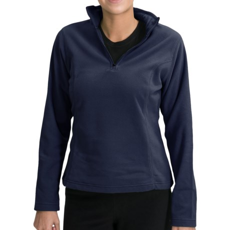 ThermaCheck 100 Fleece Pullover - Zip Neck, Long Sleeve (For Women)
