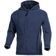 ThermaCheck 200 Fleece Jacket with Hood - Full Zip (For Little Boys) in Navy - 2nds