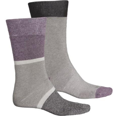 Thermal Color-Block Socks - 2-Pack, Crew (For Women) - CHARCOAL MULTI (O/S ) -  Dickies