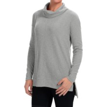 Thermal Cowl Neck Shirt - Long Sleeve (For Women) in Grey - 2nds