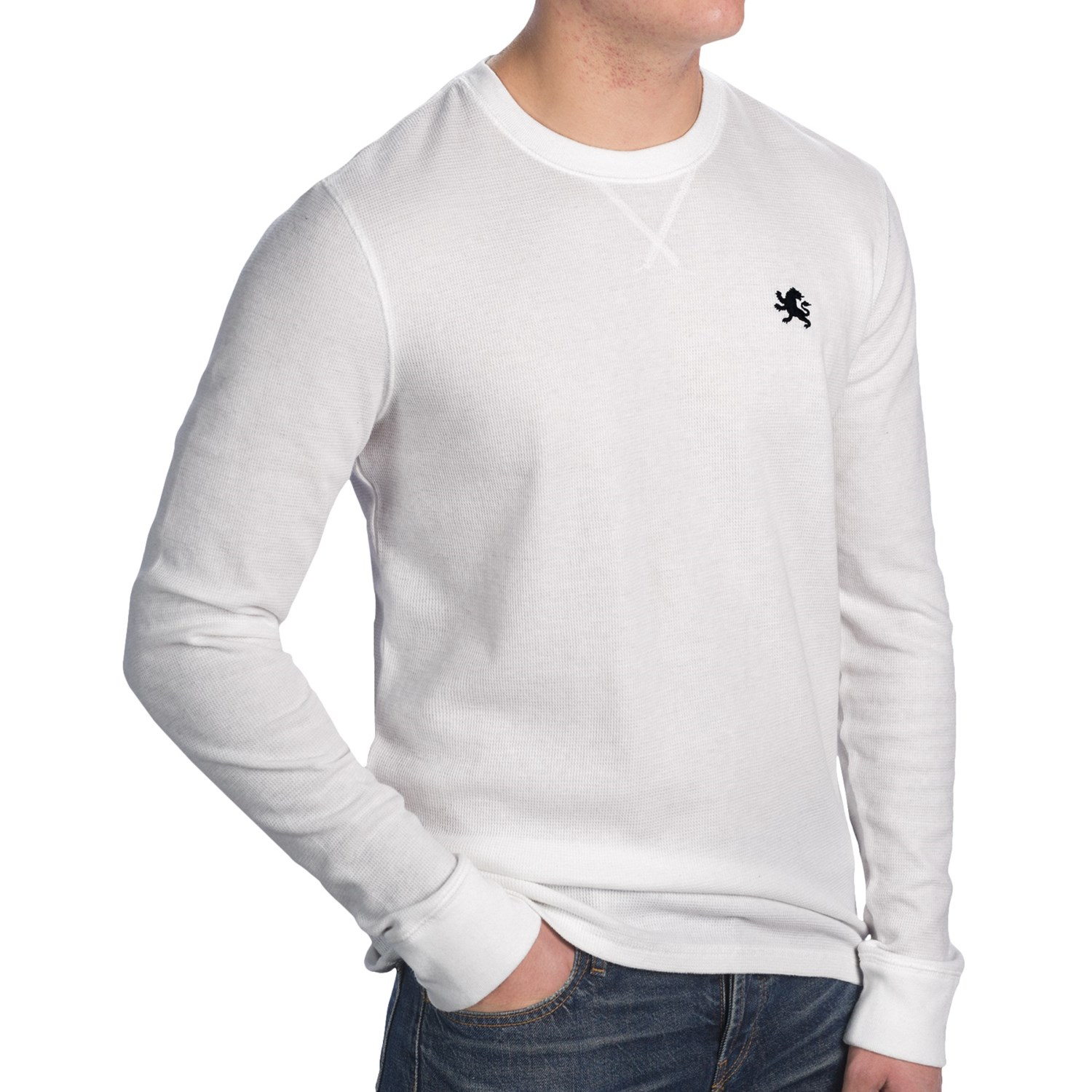 Thermal crew neck t shirt for men save 62 for White thermal t shirt
