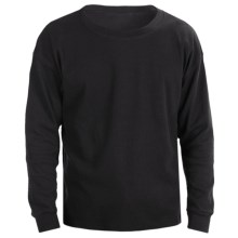 Thermal Crew Sleepshirt - Long Sleeve (For Men) in Black - 2nds