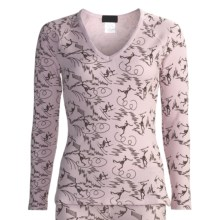 Thermal Waffle Loungewear Shirt - Long Sleeve (For Women) in Blush - 2nds