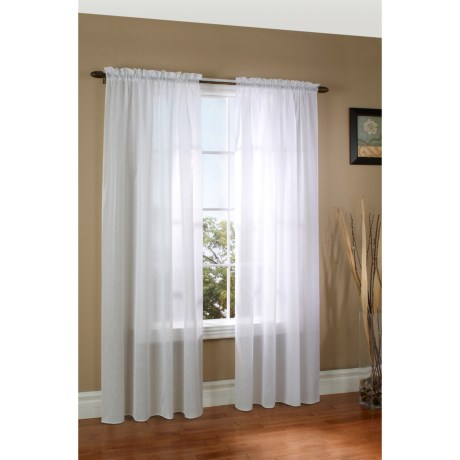 """Thermalogic ThermaSheer Weatherplus Semi-Sheer Curtains - 100x84"""", Rod-Pocket, Insulated in White"""