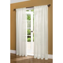 """Thermalogic ThermaSheer Weatherplus Sheer Curtains - 100x95"""", Pole-Pocket Top, Insulated in White - Overstock"""