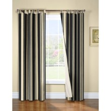 "Thermalogic Weathermate Broad Stripe Curtains - 80x63"", Tab-Top, Insulated, Lined in Black - Overstock"