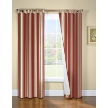 "Thermalogic Weathermate Broad Stripe Curtains - 80x63"", Tab-Top, Insulated, Lined in Terracotta - Overstock"
