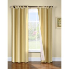 "Thermalogic Weathermate Broad Stripe Curtains - 80x72"", Tab-Top, Insulated, Lined in Khaki - Overstock"