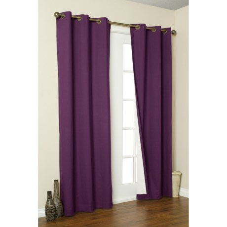 "Thermalogic Weathermate Curtain - 80x63"", Grommet-Top, Insulated in Aubergine"