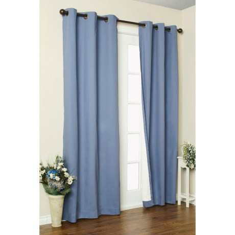 "Thermalogic Weathermate Curtain - 80x63"", Grommet-Top, Insulated in Natural"