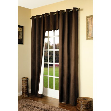 "Thermalogic Weathermate Curtain - 80x63"", Grommet-Top, Insulated in Chocolate"