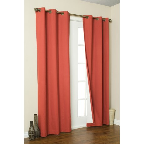 "Thermalogic Weathermate Curtain - 80x63"", Grommet-Top, Insulated in Coral"