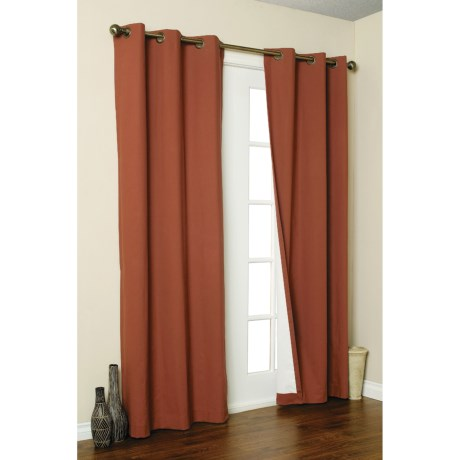 "Thermalogic Weathermate Curtain - 80x63"", Grommet-Top, Insulated in Terracotta"