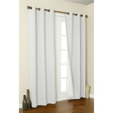 "Thermalogic Weathermate Curtain - 80x63"", Grommet-Top, Insulated in White - Overstock"