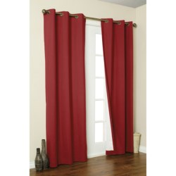 """Thermalogic Weathermate Curtains - 160x 84,"""" Grommet-Top, Insulated in Burgundy"""