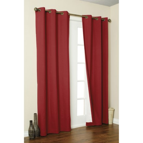"Thermalogic Weathermate Curtains - 160x 84,"" Grommet-Top, Insulated in Burgundy"