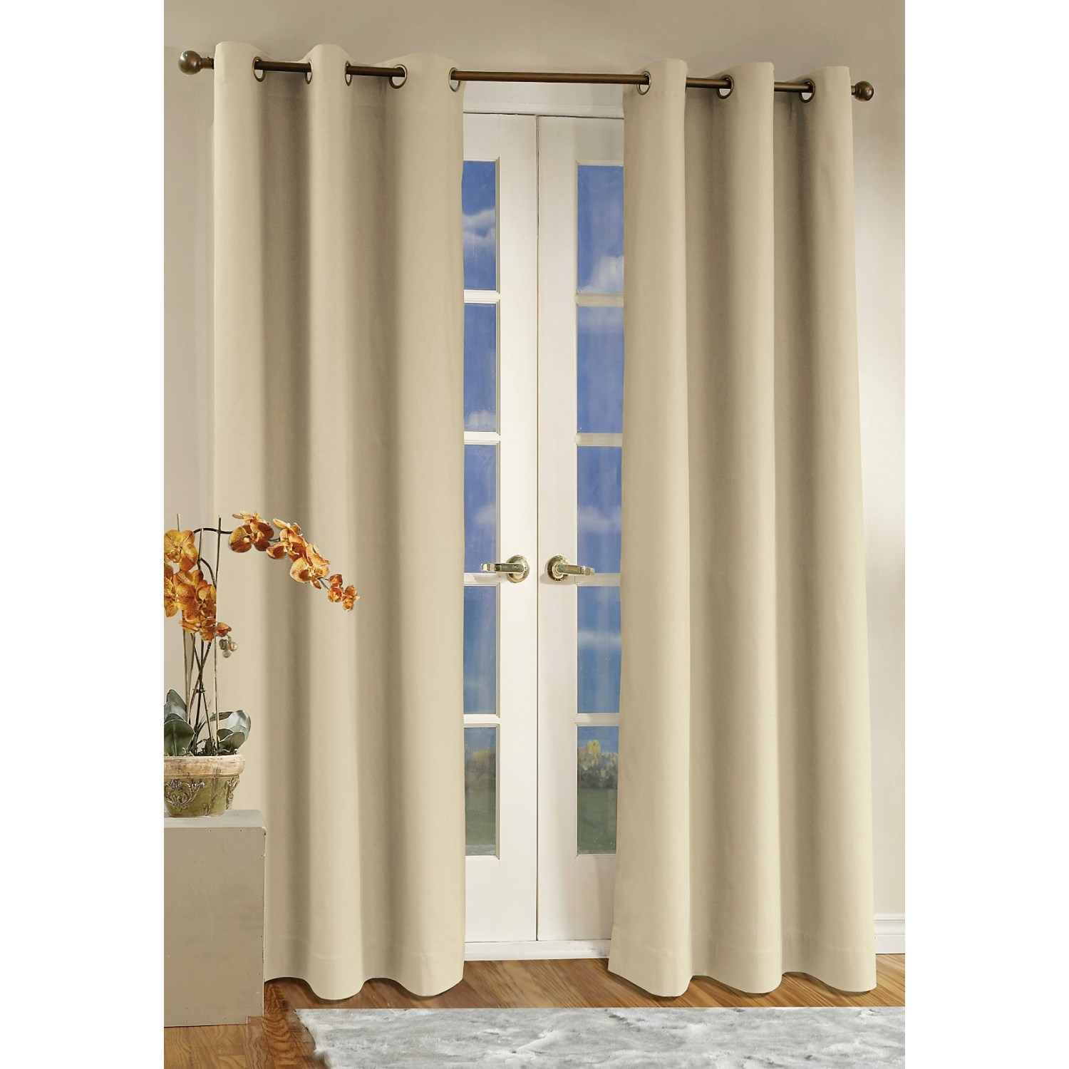 "... Weathermate Curtains - 160x 84,"" Grommet-Top, Insulated in Natural"
