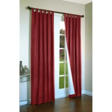 "Thermalogic Weathermate Curtains - 160x 84"", Tab-Top, Insulated in Burgundy - Overstock"