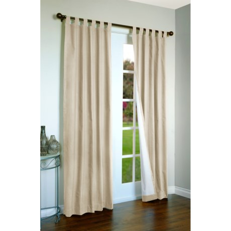 "Thermalogic Weathermate Curtains - 160x 84"", Tab-Top, Insulated in Terracotta"
