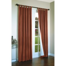 "Thermalogic Weathermate Curtains - 80x 63"", Tab-Top, Insulated in Terracotta - Overstock"